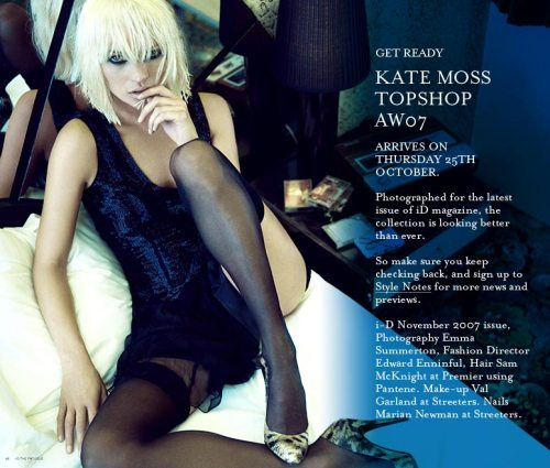 Kate Moss Black Lingerie Blonde Wig
