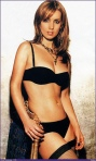 louise nurding redknapp black lingerie knickers stockings