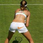 Daniela Hantuchova bending over ass