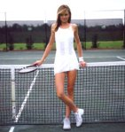 Daniela Hantuchova sexy short white dress sexy legs tennis player