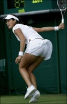 Ana Ivanovic's ass bending over white panties