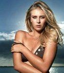 Maria Sharapova taking off bikini