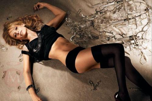 sarah michelle gellar knee high socks black lingerie knickers