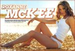Roxanne McKee sexy white bikini on the beach