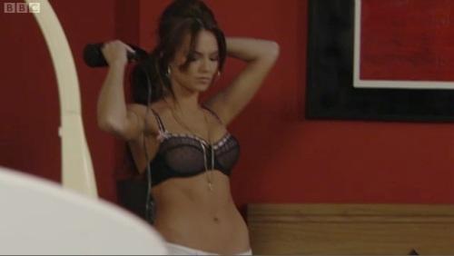 Kara Tointon sexy black bra